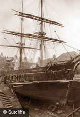 Whitby, Shipyard c1880