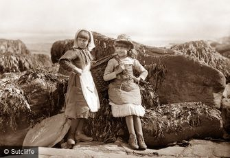 Whitby, Two Fishergirls c1880