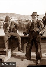 Whitby, Two Fishermen c1880