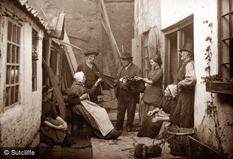 Whitby, Umbrella Seller c1880