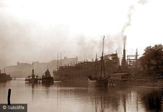 Whitby, Whitehall Shipyard c1880